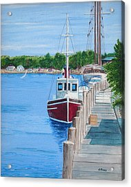 Mystic Dock Acrylic Print by Anthony Ross