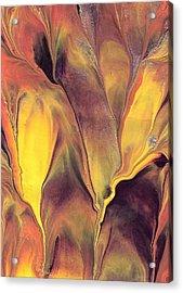 Mystic Fire 1 Acrylic Print by Linda Stevenson