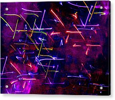 Acrylic Print featuring the digital art Mystic Lights 8 by Donna Corless