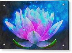 Mystic Lotus Acrylic Print