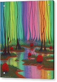Mystic Marsh 01 Panel A Acrylic Print