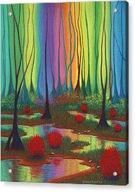 Mystic Marsh 01 Panel B Acrylic Print