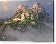 Mystic Mountain Acrylic Print by Mary Almond