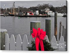 Mystic River Acrylic Print by Catherine Reusch Daley