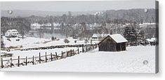 Mystic River Winter Landscape Acrylic Print