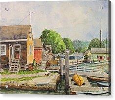 Mystic Seaport Boathouse Acrylic Print