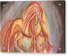 Dancing Abstract Horse Acrylic Print by Remy Francis
