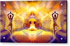 Acrylic Print featuring the digital art Mystic Universe 14 by Derek Gedney