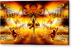 Acrylic Print featuring the digital art Mystic Universe 7 by Derek Gedney