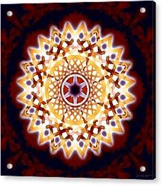 Acrylic Print featuring the digital art Mystic Universe 7 Zodiac Lattice by Derek Gedney
