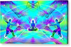 Acrylic Print featuring the digital art Mystic Universe 8 by Derek Gedney