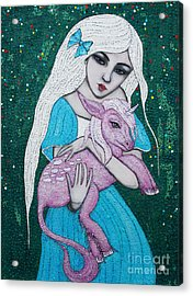 Acrylic Print featuring the mixed media Mystical Beginnings by Natalie Briney
