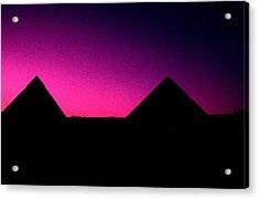 The Pyramids At Sundown Acrylic Print