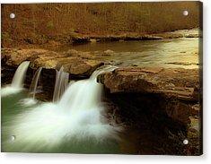 Mystical King River Falls Acrylic Print by Iris Greenwell
