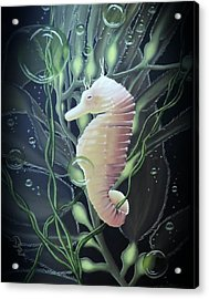 Acrylic Print featuring the painting Mystical Sea Horse by Dianna Lewis