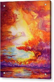 Mystical Sunset Acrylic Print by Estela Robles