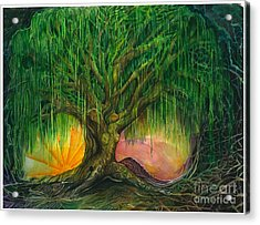 Mystical Willow Acrylic Print by Colleen Koziara