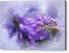 Acrylic Print featuring the photograph Mystical Wisteria By Kaye Menner by Kaye Menner