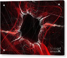 Mystry Through The Black Hole Acrylic Print by Andee Design