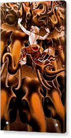 Mythical Warrior Of Siam Acrylic Print