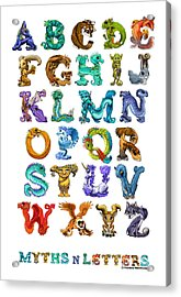 Acrylic Print featuring the digital art Myths N Letters by Stanley Morrison