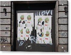 N Y C Kermit Acrylic Print by Rob Hans
