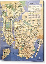 N Y C Subway Map Acrylic Print