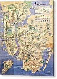 N Y C Subway Map Acrylic Print
