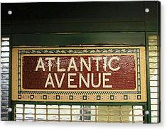 N Y C Subway Scenes # 52   Acrylic Print by Allen Beatty