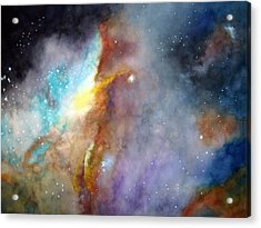 Acrylic Print featuring the painting N11b Large Magellanic Cloud by Allison Ashton