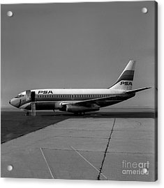 N462gb, Boeing 737-293, Long Beach, California, Lgb Acrylic Print by Wernher Krutein