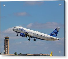 N625jb Jetblue At Fll Acrylic Print