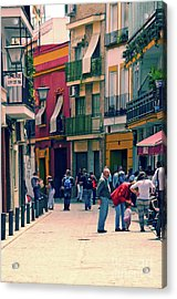 Acrylic Print featuring the photograph Triana On A Sunday Afternoon 1 by Mary Machare