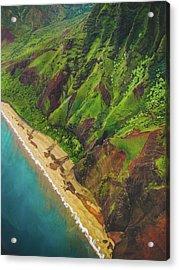 Na Pali Coast Aerial Acrylic Print