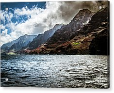 Na Pali Coast Cliffs Kauai Hawaii Acrylic Print