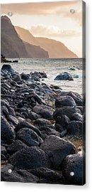 Na Pali Lava Rocks Acrylic Print by Adam Pender