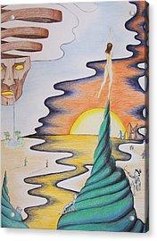 Nachos As Thin As Desire Acrylic Print by Donovan Hubbard