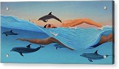 Nadando Contra Corriente Acrylic Print