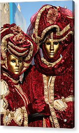 Nadine And Daniel In Red 2 Acrylic Print by Donna Corless