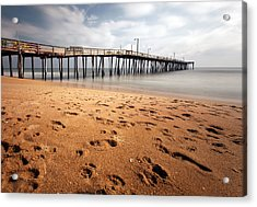 Acrylic Print featuring the photograph Nags Head Fishing Pier by Chris Babcock