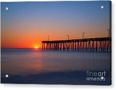 Nags Head Fishing Pier Sunrise Acrylic Print