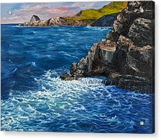Acrylic Print featuring the painting Nakalele Point Maui by Darice Machel McGuire