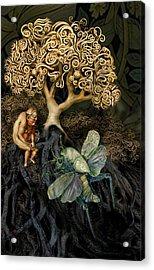 Naked And Afraid Acrylic Print by Hans Neuhart