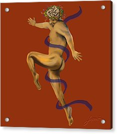 Acrylic Print featuring the painting Naked Dancer #4 by Thomas Lupari