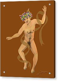 Acrylic Print featuring the painting Naked Dancer #7 by Thomas Lupari