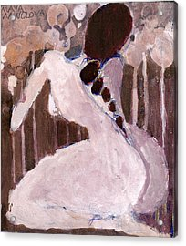 Acrylic Print featuring the painting Naked Dream by Maya Manolova