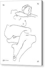 Naked-female-art-21 Acrylic Print by Gordon Punt