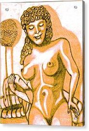 Naked Goddess Acrylic Print by Richard Heyman