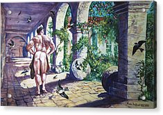 Naked In The Cloisters Acrylic Print