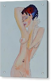 Acrylic Print featuring the painting Naked Noelle by Beverley Harper Tinsley